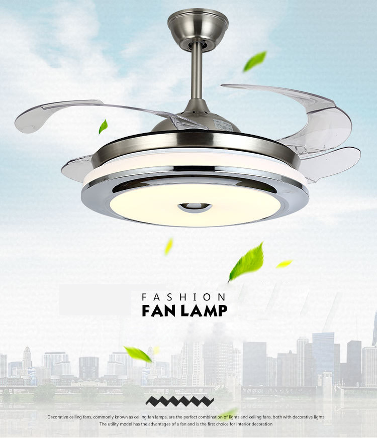 Modern 42 Invisible Ceiling Fan Lights Led Chandelier Fixtures China Led Pendant Light Led Fan Light Made In China Com