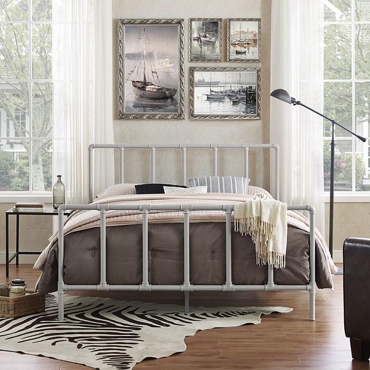 Estilo Industrial antigüedades 160x200cm reina marco de la cama de ...