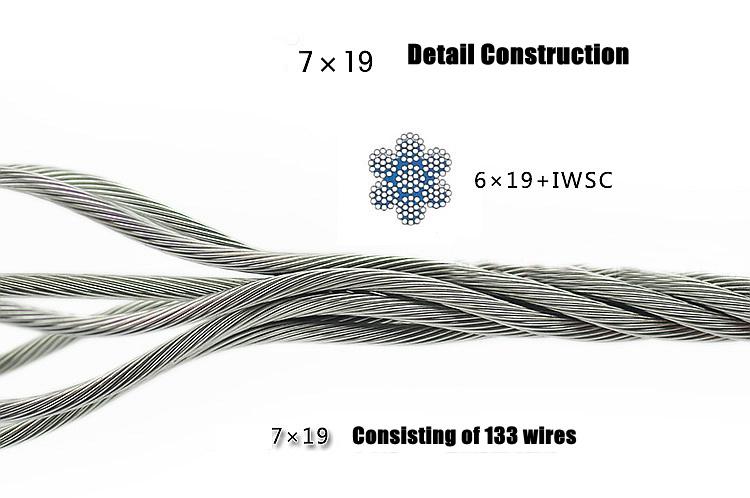 6x19 seale iwrc cable met u00e1lico de acero inoxidable  u2013 6x19