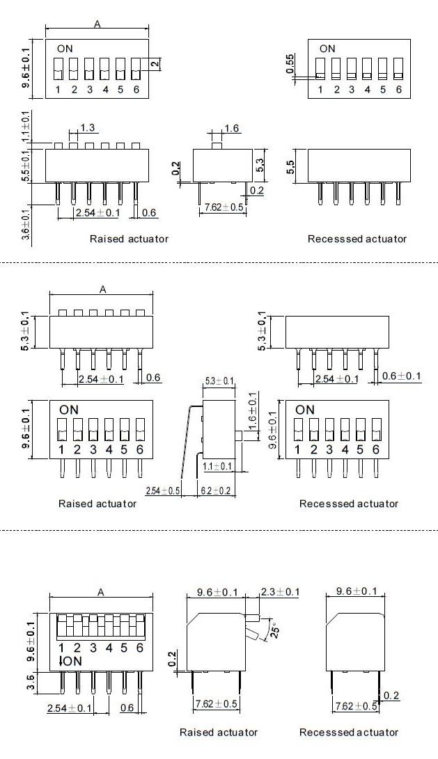 Onpow Plastic DIP Switch (RoHS & REACH) - China Switch, DIP Switch ...