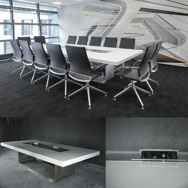 Modern Style Luxury Office Furniture Corian Conference Table For - 4 person conference table