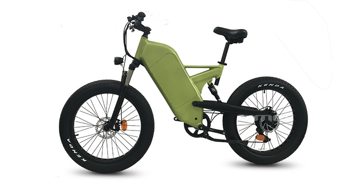 58a54cca236 Double Suspension Fat Tire Mountain Trek Electric Bicycle 1000W ...