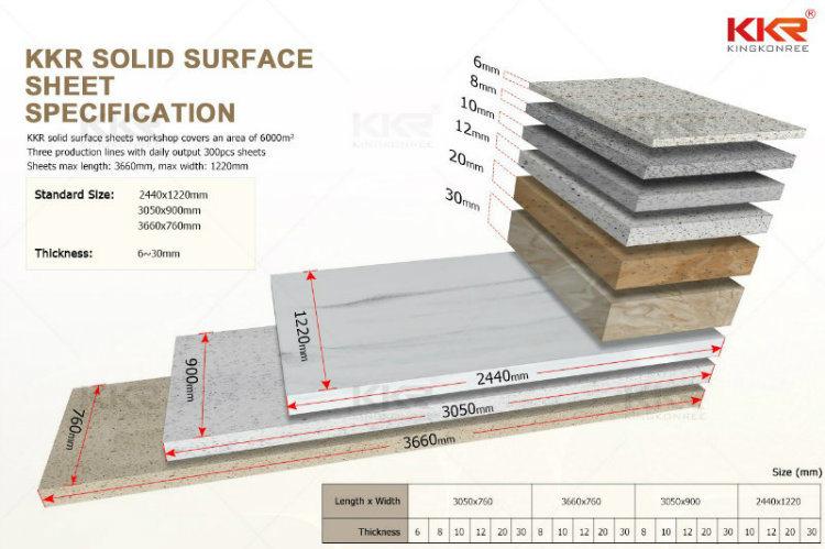 Kkr Solid Surface Acrylic Bathroom Wall Panels China Stone Wall Panels Corian Wall Panels Made In China Com