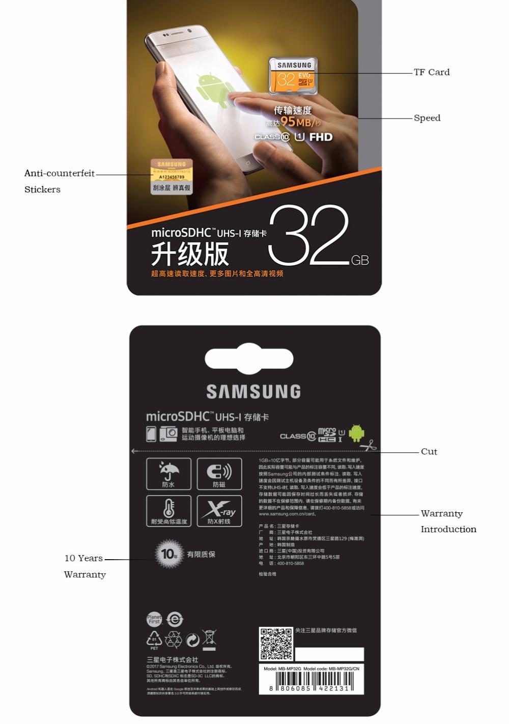 OEM Brand TF Card Micro SD Card 128GB Memory Card for Samsung 2GB 4GB 8GB 16GB 32GB