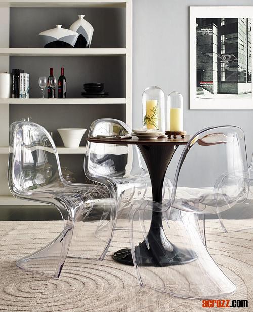 Acrilica Trasparente Impilabile Sala S Panton Chair