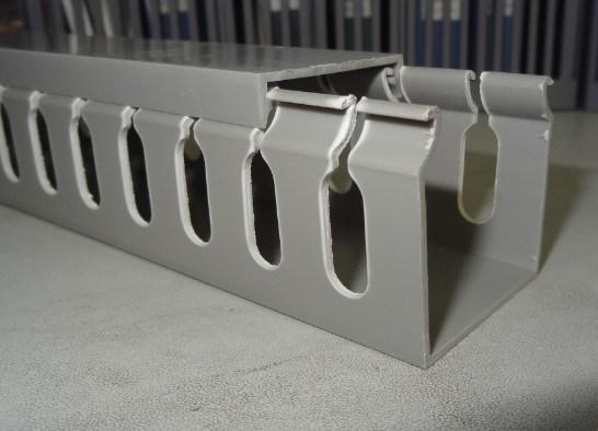 canal de pvc en plastique fendu de piste chemin de c bles goulotte du c blage canal de pvc en. Black Bedroom Furniture Sets. Home Design Ideas