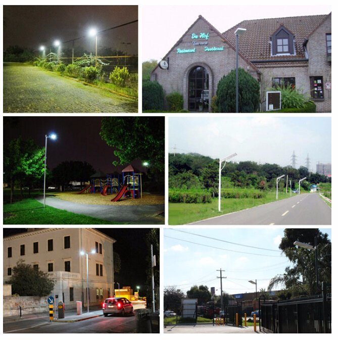 5W-120W Integrated LED Solar Street Light with Time Control for Garden