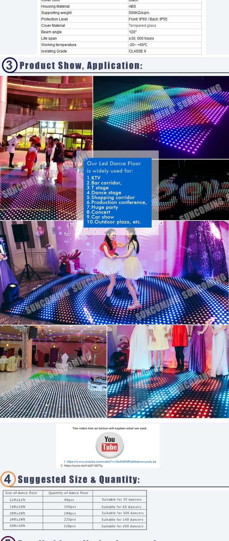 Super bright disco led dance floor panel china led dance floor to fix the dance floors both easy install and disassemble no need of professional workers or even hiring a labor you can do it by yourself solutioingenieria Images