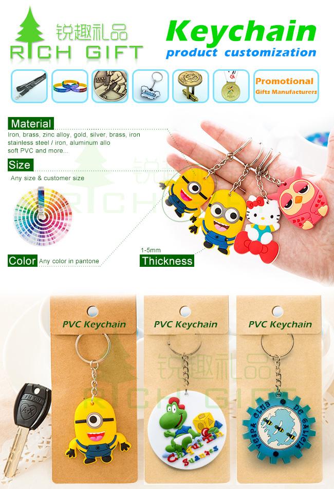 Promotional Wholesale Custom Logo Metal Keychain /Leather Keychain/PVC Key Chain