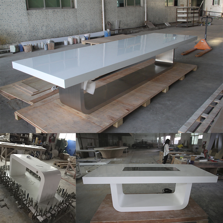 Modern Style Luxury Office Furniture Corian Conference Table For - 16 person conference table