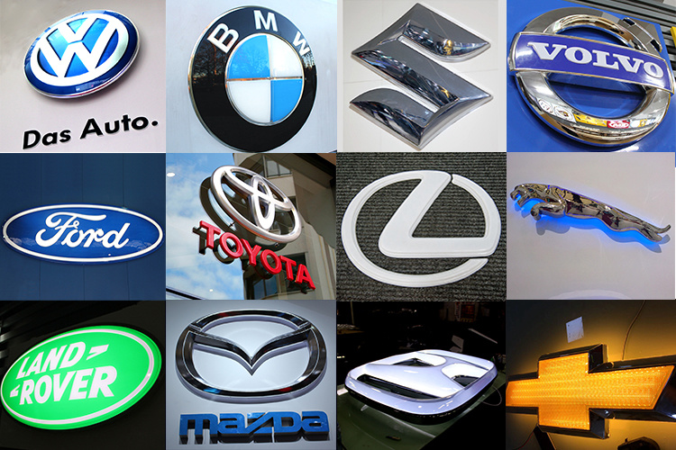 Led Acrylic Car Logo And Name Letters Sign Logos For Toyota China