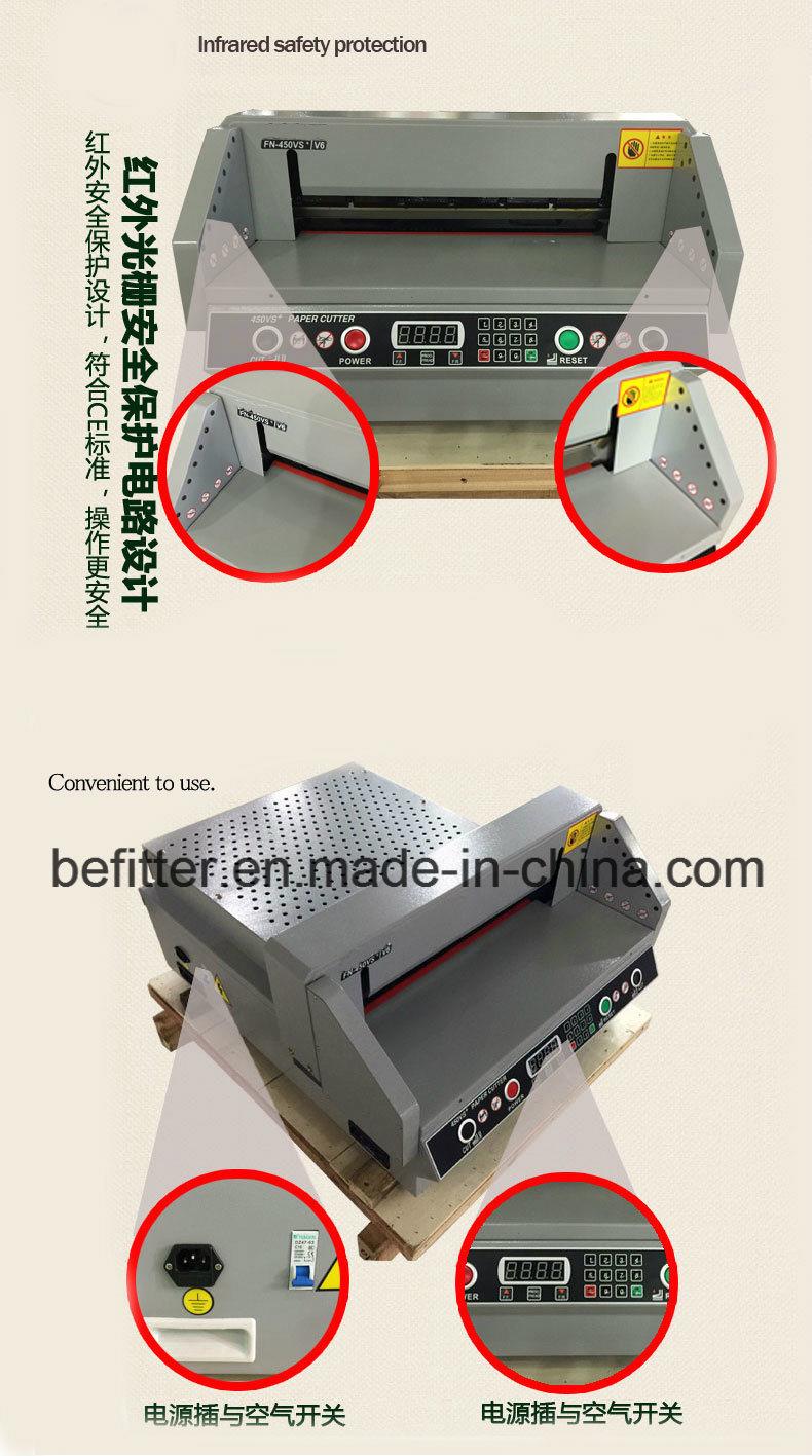 G450vs A2 Size 450mm Electric Paper Cutter China Cut Machine Circuit Board Cutting V Factory Price