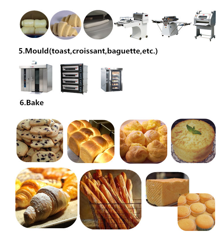 Made in China Food Complete Bakery Equipment Rotary Ovens Mixer Divider in China for Sale (ZMZ-32M)