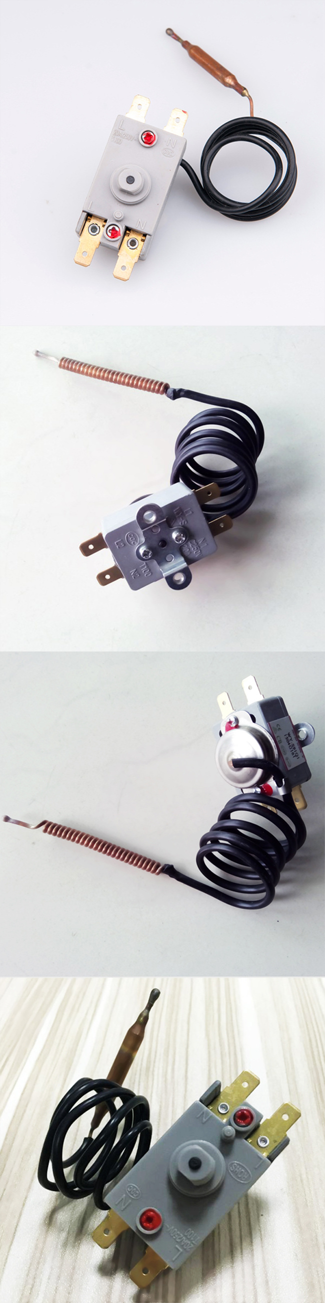 20a 250v High Quality Manual Reset Capillary Thermal Thermostat For Extension Cord Wiring Diagram Water Heater China Made In Chinacom