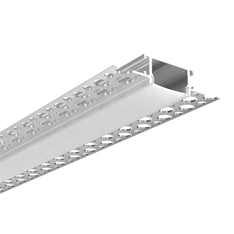 16-Pack Plaster-in LED Aluminum Channel 3.3ft//1m with Flange for LED Strip Drywall Aluminum Profile with Clip-in Diffuser and End Caps