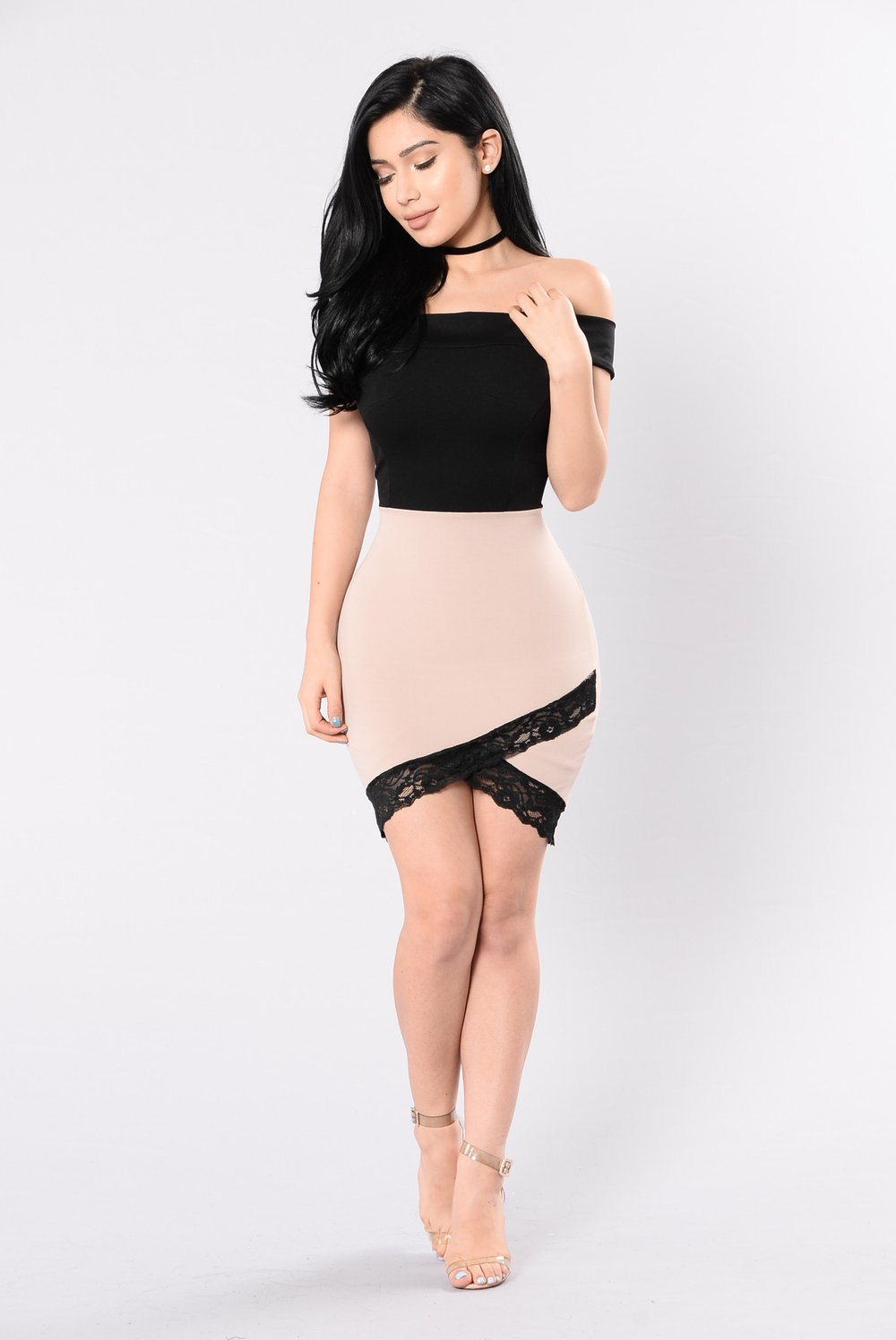 short dress with off-shoulder tight dress 2018 casual wear off
