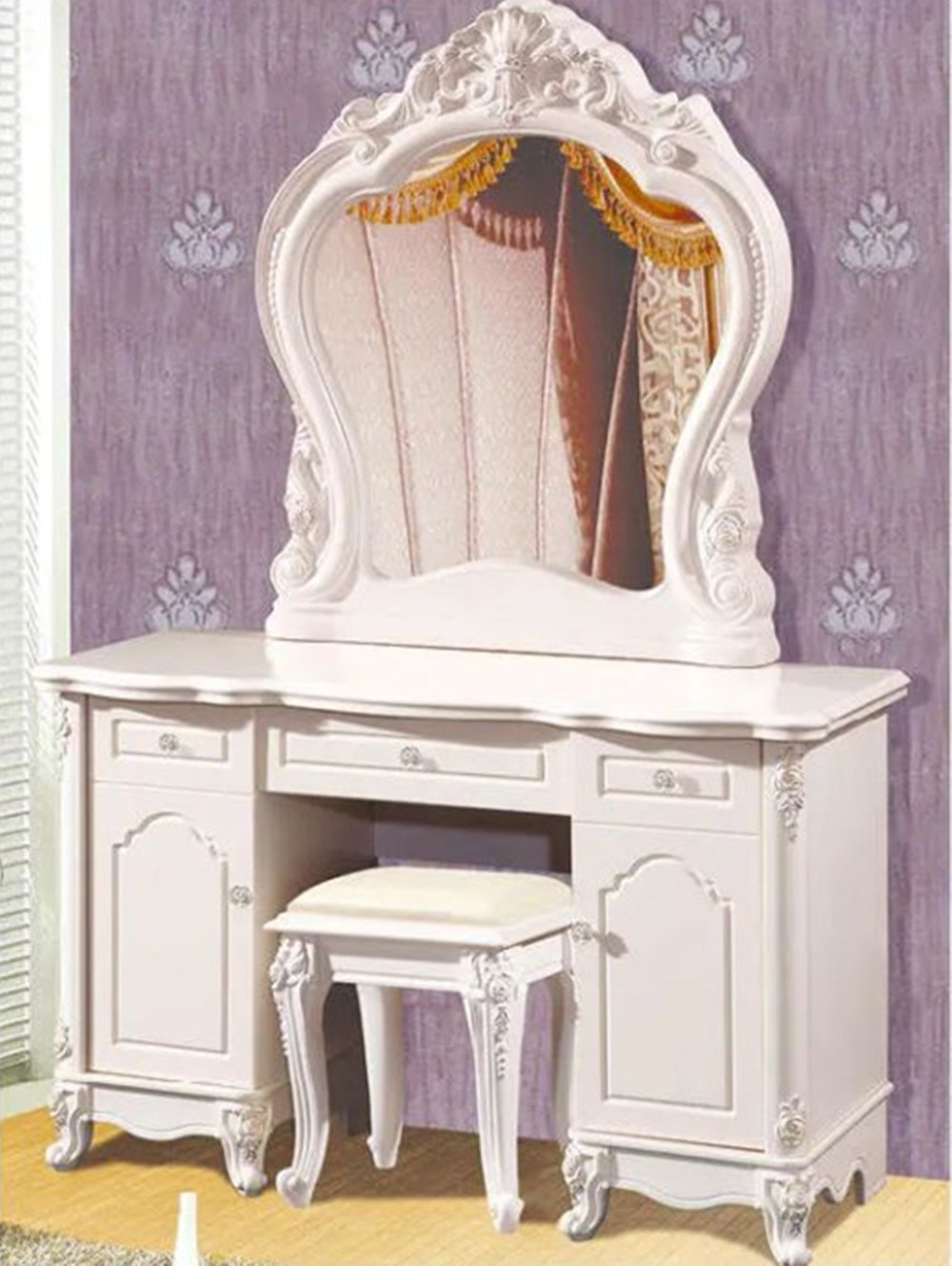Wholesale Bedroom Furniture Makeup Vanity Table Modern Dresser With Mirror China Home Furniture Dressing Table Made In China Com