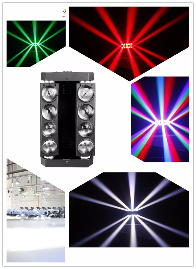 Best Wholesale Spider 8PCS 10W RGBW Moving Head Stage Light