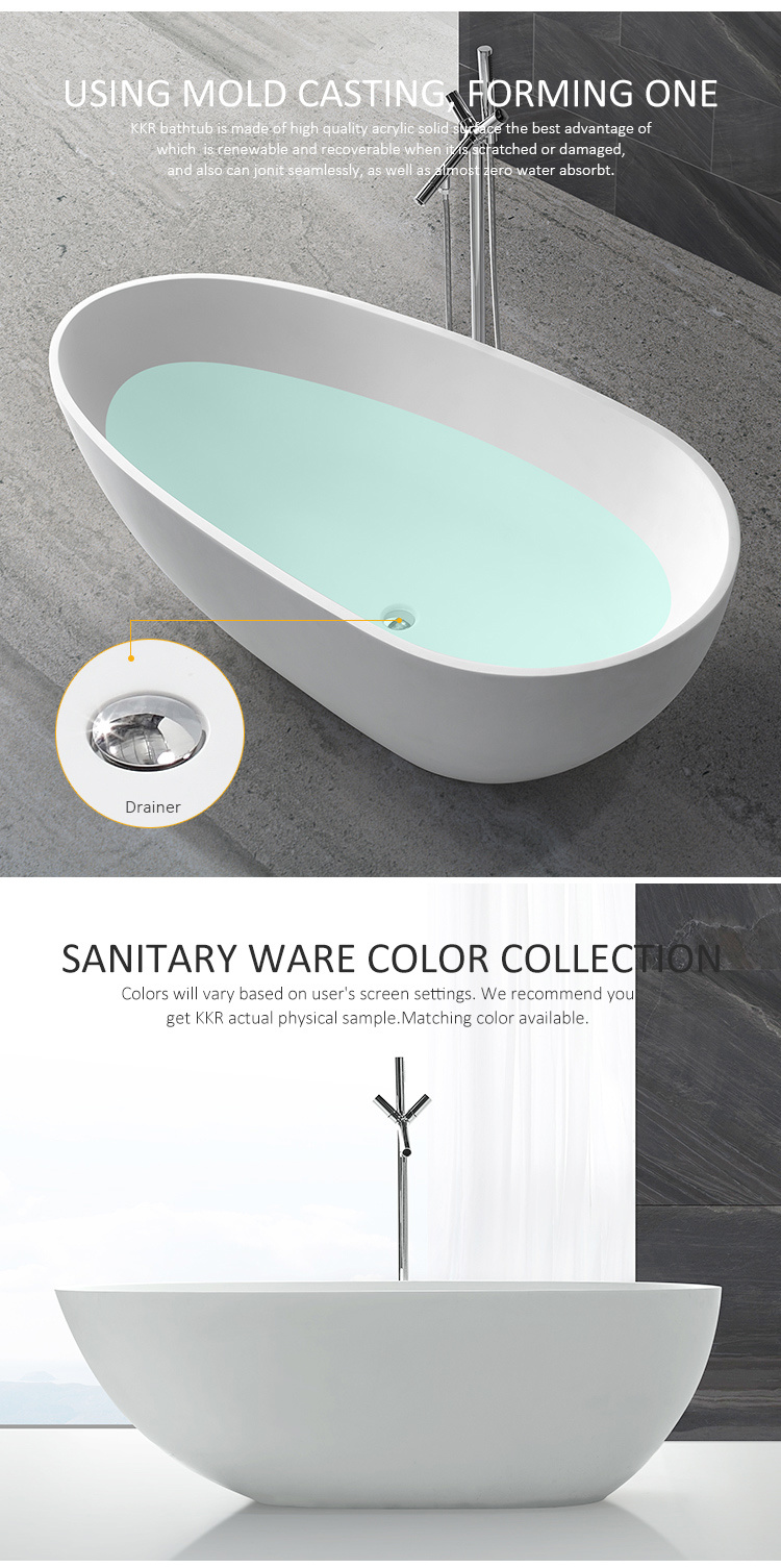 la chine en acrylique de gros de surface solide salle de bain