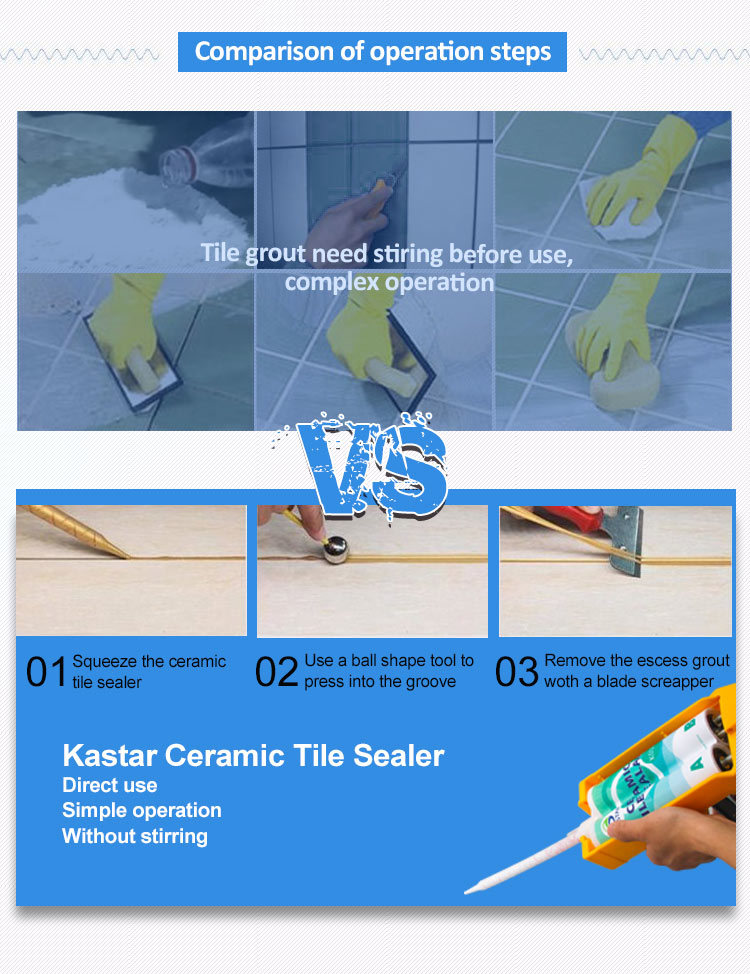 Colors Epoxy Resin Floor Ceramic Grout for Glass Mosaic Tiles