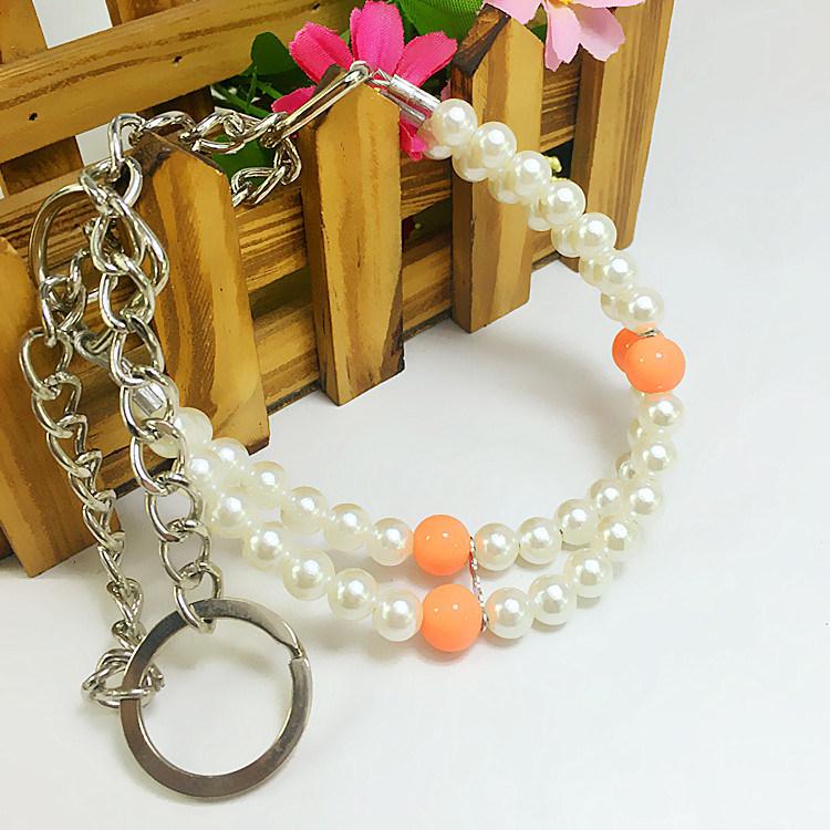 d0ca3782fed3  Materiales   alta calidad + perlas de imitación de las piezas de metal  inoxidable.  Características   ajusta la longitud de 20-35 cm.