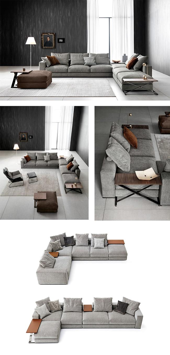 Modern 5 Seater Italian Style Fabric Sofa Set Designs Furniture for ...