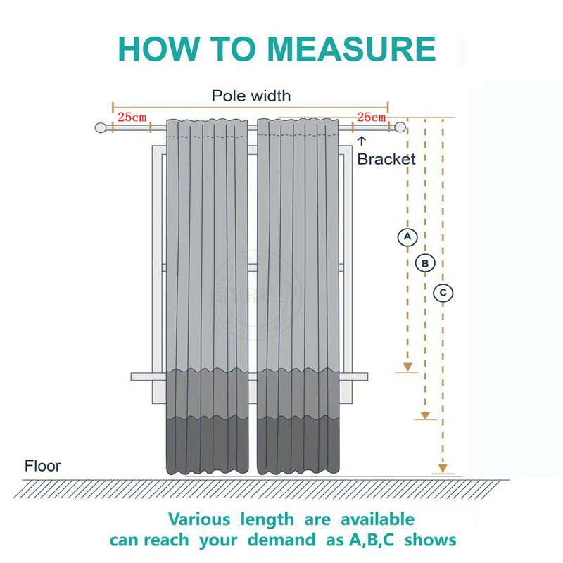 Polyester Voile Curtain Fabric, How To Measure A Window For Curtain Fabric