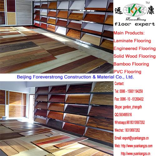 Matt Gloss Finish Laminate Flooring With U Groove Painting China