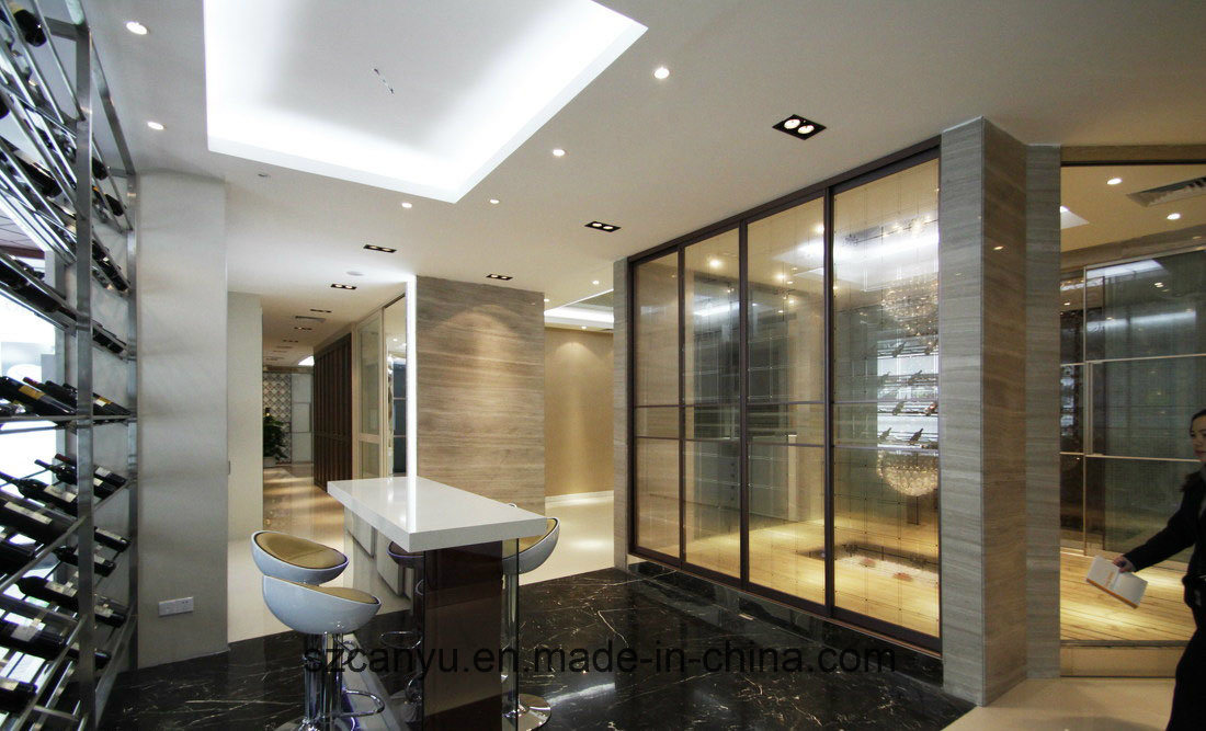 Modelling Hotel Restaurant Office Aluminum Frame Glass Partition