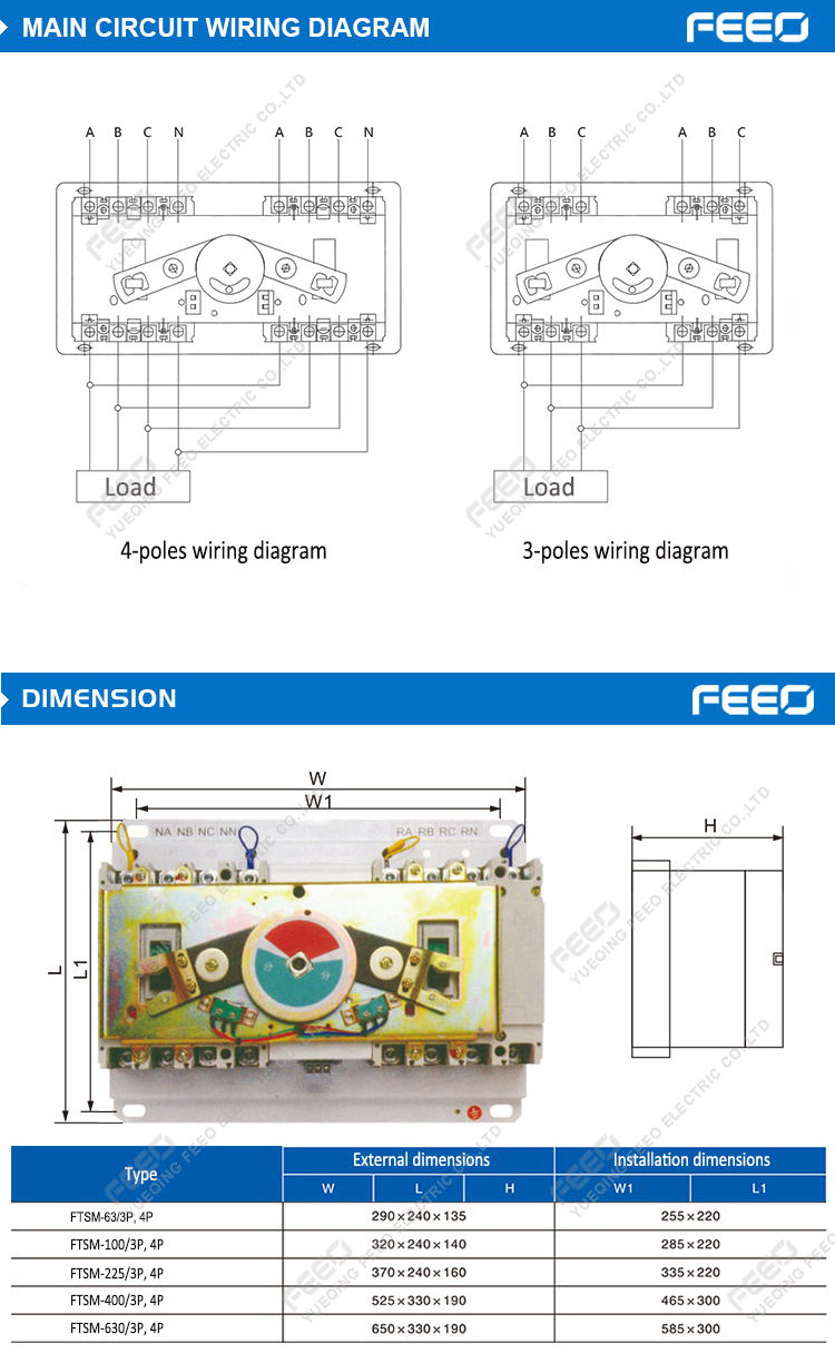 Automatic Transfer Switch Control Wiring Diagram 400v House Use Power China In The Installation Process Do Not Let Local Controller To Forget Connect Signal Line Touch Off Or Short