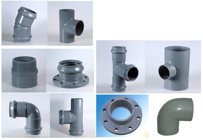 Grey names of pvc pipe fittings high pressure fitting china pvc