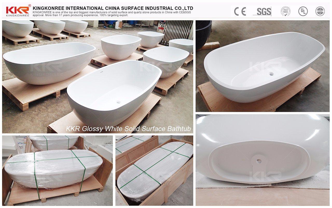 Freestanding Italian Solid Surface Marble Small Deep Bathtub - China ...