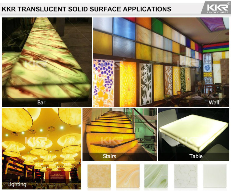 Decorative 12mm Modified Acrylic Solid Surface