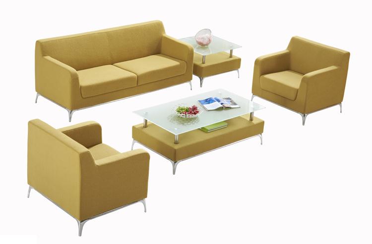 Un style moderne mobilier de bureau tissu canapé avec table de