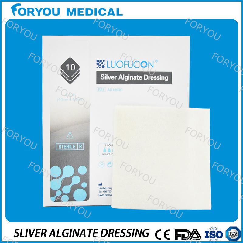 Wholesale Diabetic Supplies Ag Alginate Dressing Silver Alginate