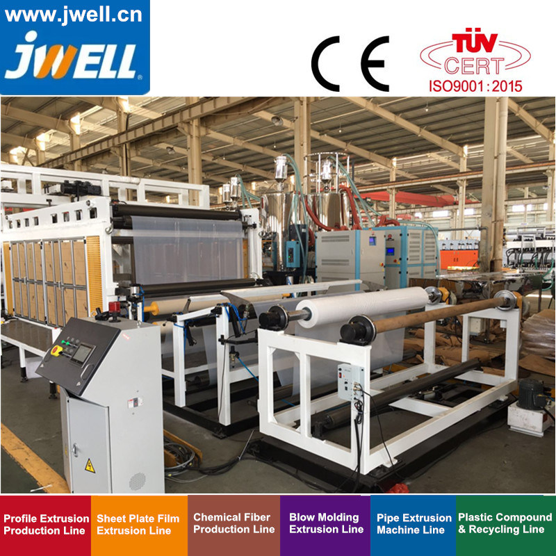 Jwell TPU Film Extrusion Line for Field of Shoe, Clothes, Air-Filled Toy, Overwater&Underwater Sport Equipment, Medical Equipment, Fitness Equipment, Car Seat