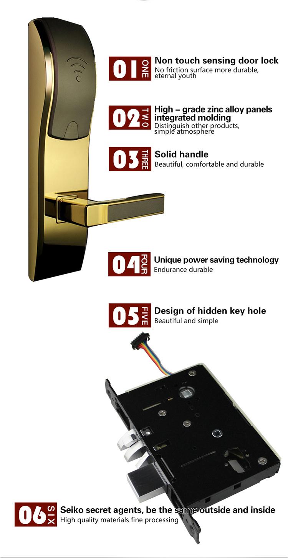 Wechat/APP/Computer/Card Unlock Electronic Metal Remote Control Door Lock