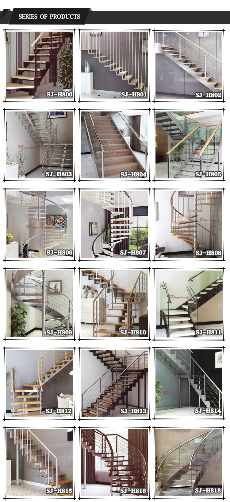 Indoor Carbon Steel Wood Tread Staircase China Stainless Steel