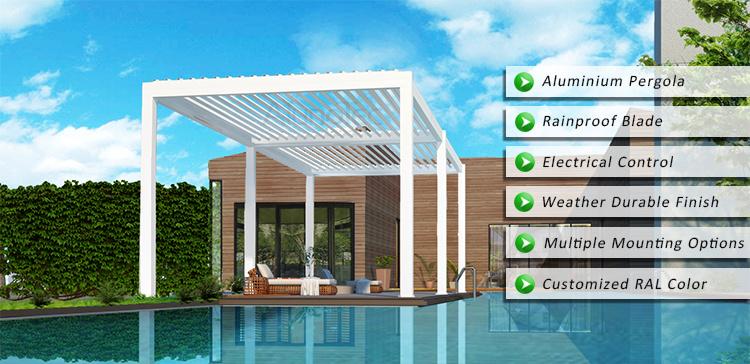 pergola enduit de toit d 39 auvent de poudre neuve de mod le avec l 39 clairage led pergola enduit. Black Bedroom Furniture Sets. Home Design Ideas