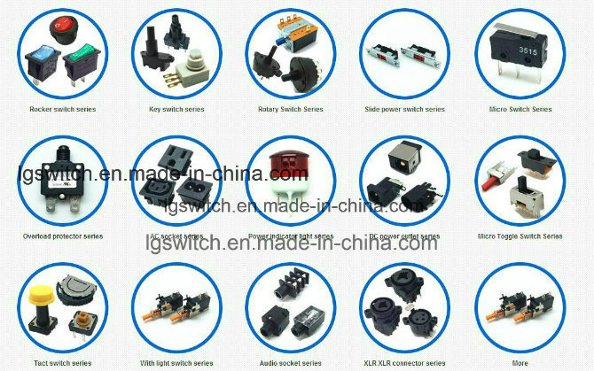 Power on-off 2 Position Micro Round Push Button Boat Rocker Switches
