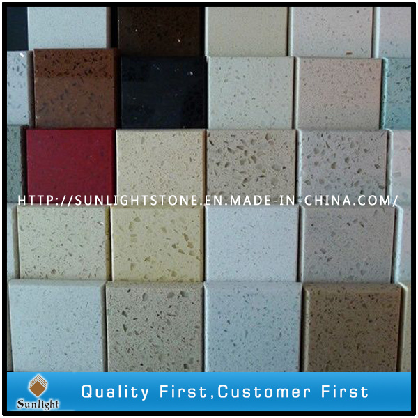 Gebouwde kunstmatige witte countertops van de steen van for Engineered quartz countertop colors