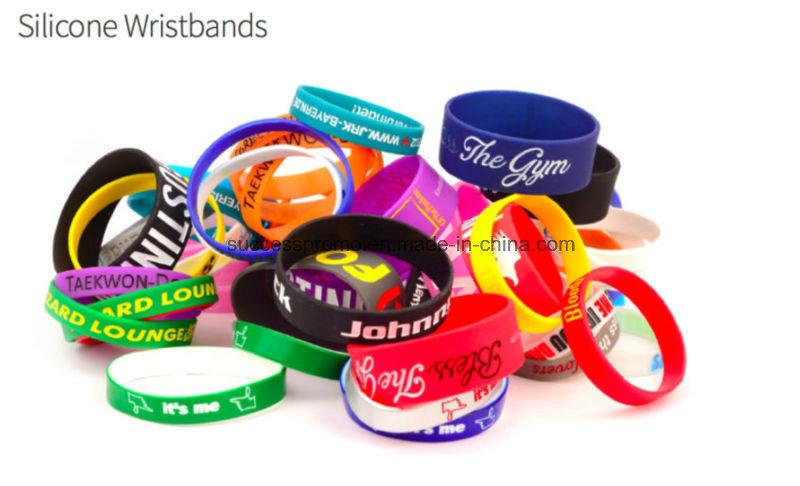 Cheap Custom Silicone Wristbands Segmented