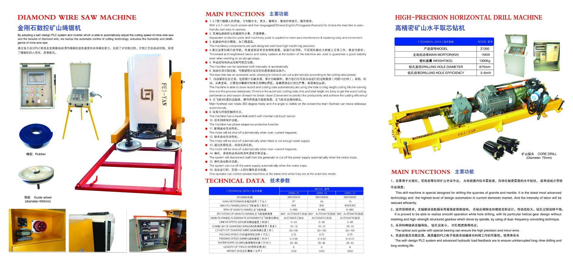 Diamond Wire Saw Machine for Stone/Granite - China Diamond Wire Saw ...