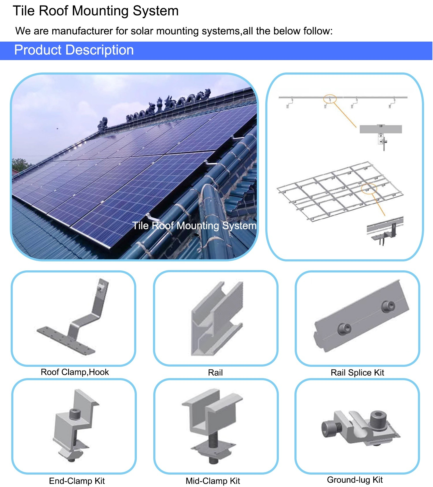 Metal Roofing Bracket Solar Home System Solar Panel Bracket - China ...