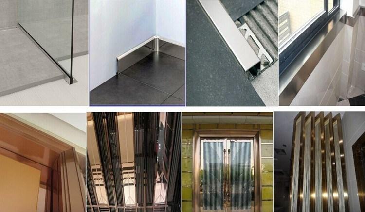Waterproof 304 Stainless Steel Wall Skirting Board Interior