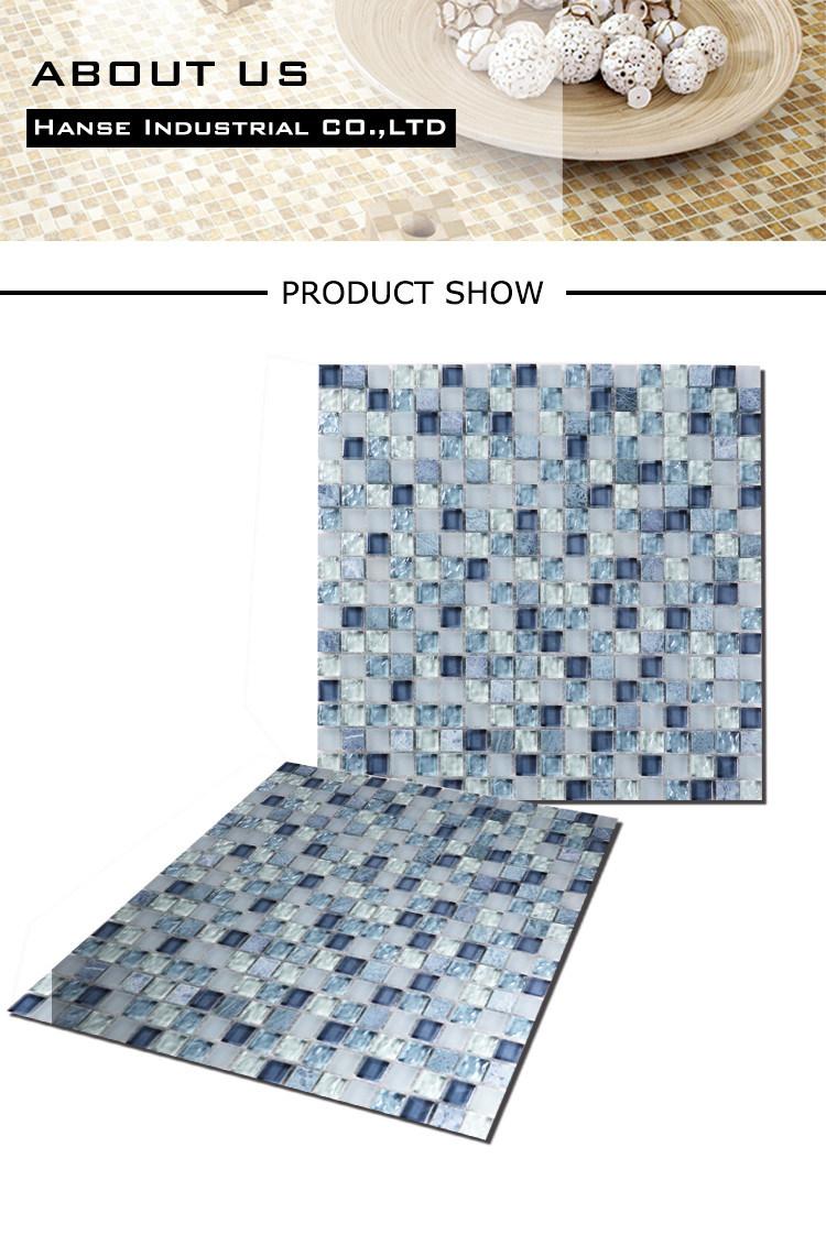 Qj003 8mm Thickness Color Mix Natural Marble Flooring Border Designs ...