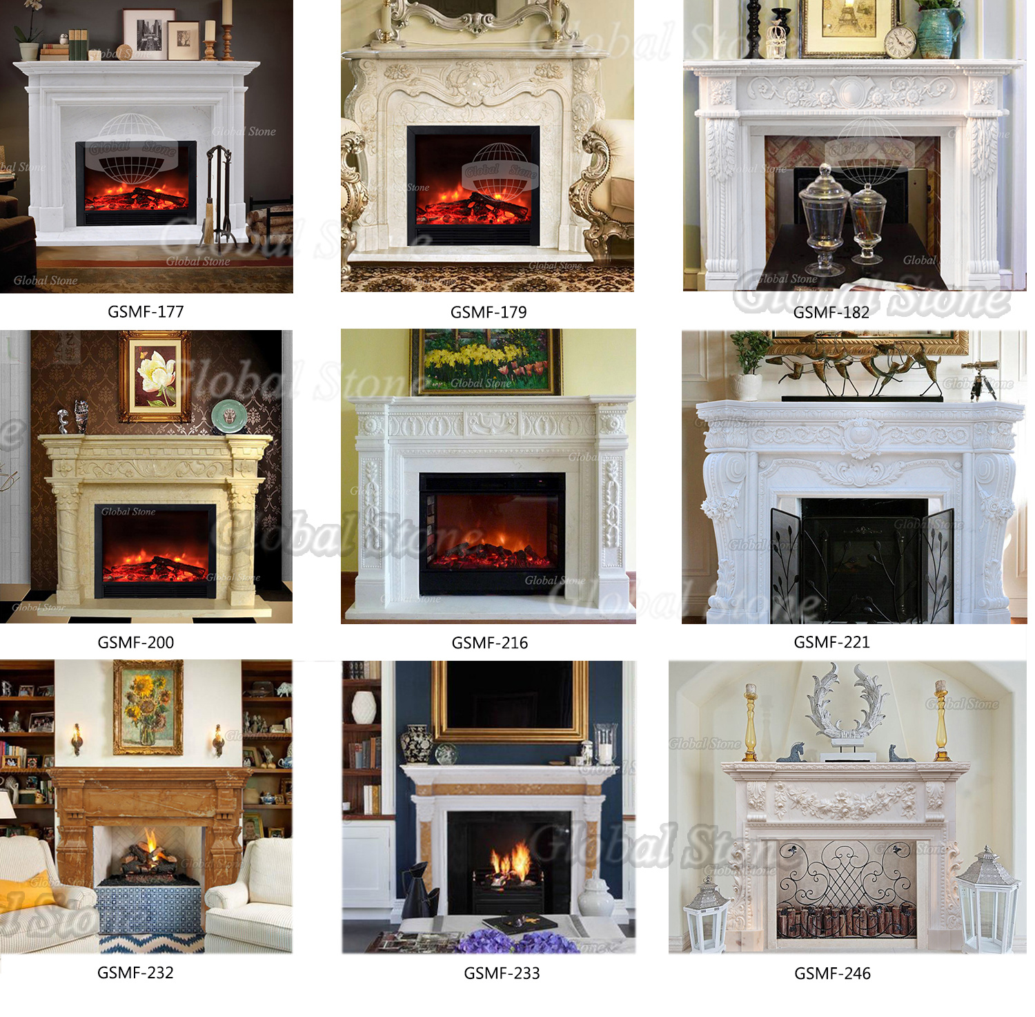 Customized White Marble Fireplace Surround Gsmf 177 China Indoor Stone Fireplace Marble Mantel Made In China Com