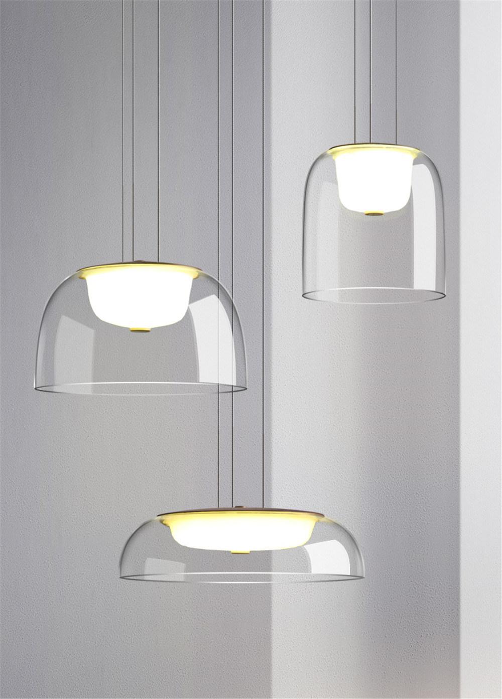 Modern Designer Glass Pendant Lights, Glass Dining Room Light Fixtures