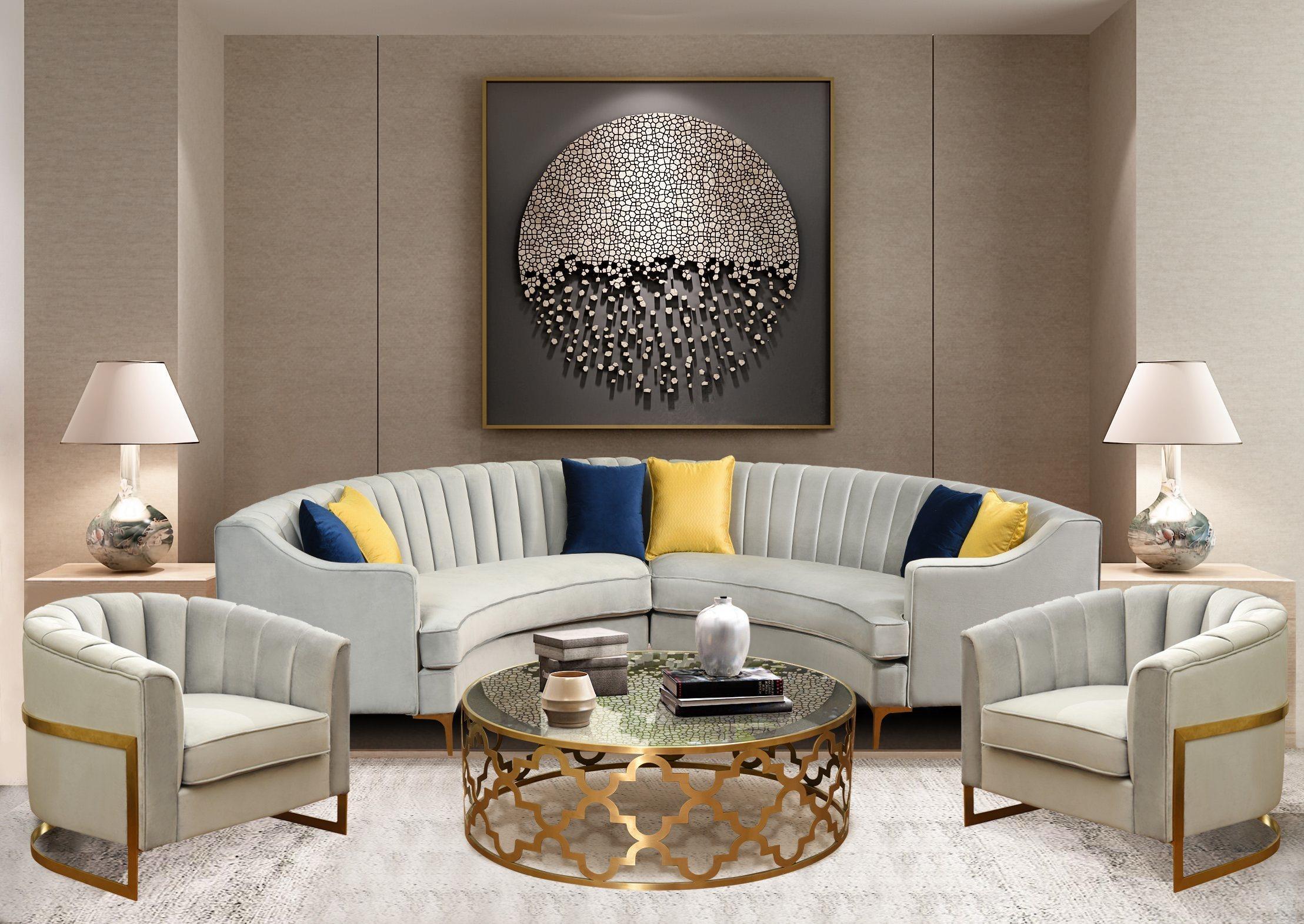 Room Linen Fabric Velvet Sofa China, New Style Living Room Furniture