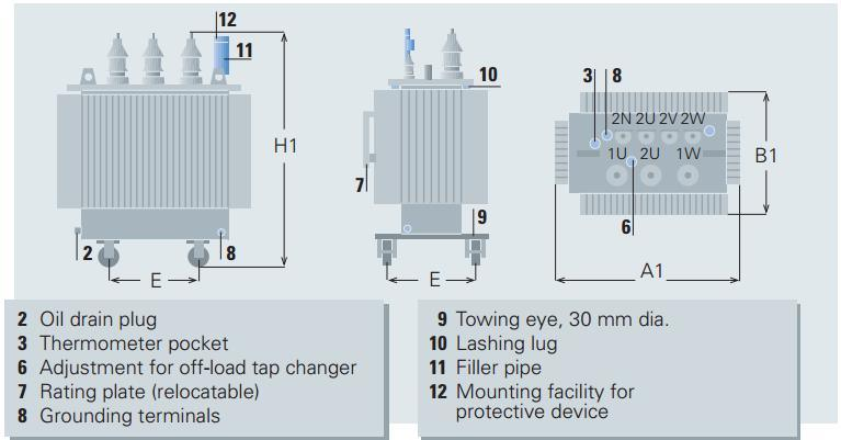 10kv Oil-Immersed Laminated Core Type Fully-Sealed Energy Saving Power Distribution Transformer
